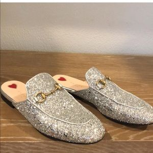 Gucci princetown glitter loafer